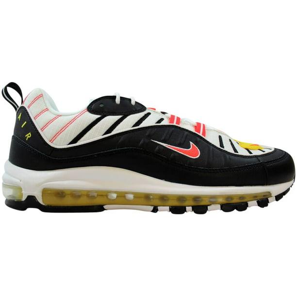 Nike Air Max 98 Black/Bright Crimson-White 640744-016 Men's Size 12