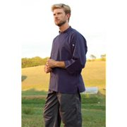 0975-5308 Epic 3/4 Sleeve Chef Shirt in Eggplant - 4XLarge