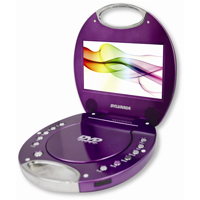 Sylvania SDVD7046-Purple 7-Inch Portable DVD Player with Integrated Handle, Purple - Manufacturer Refurbished