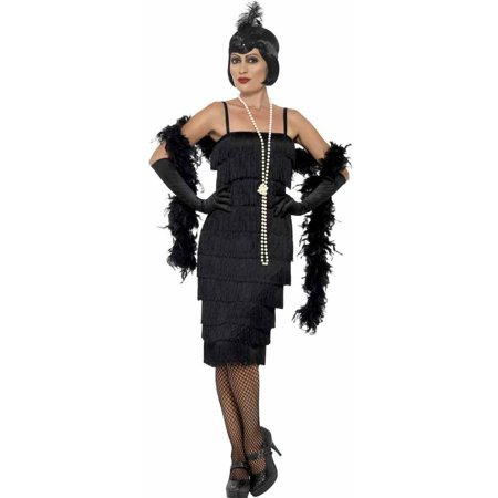 Black Flapper Long Dress Adult / Plus Costume for $<!---->