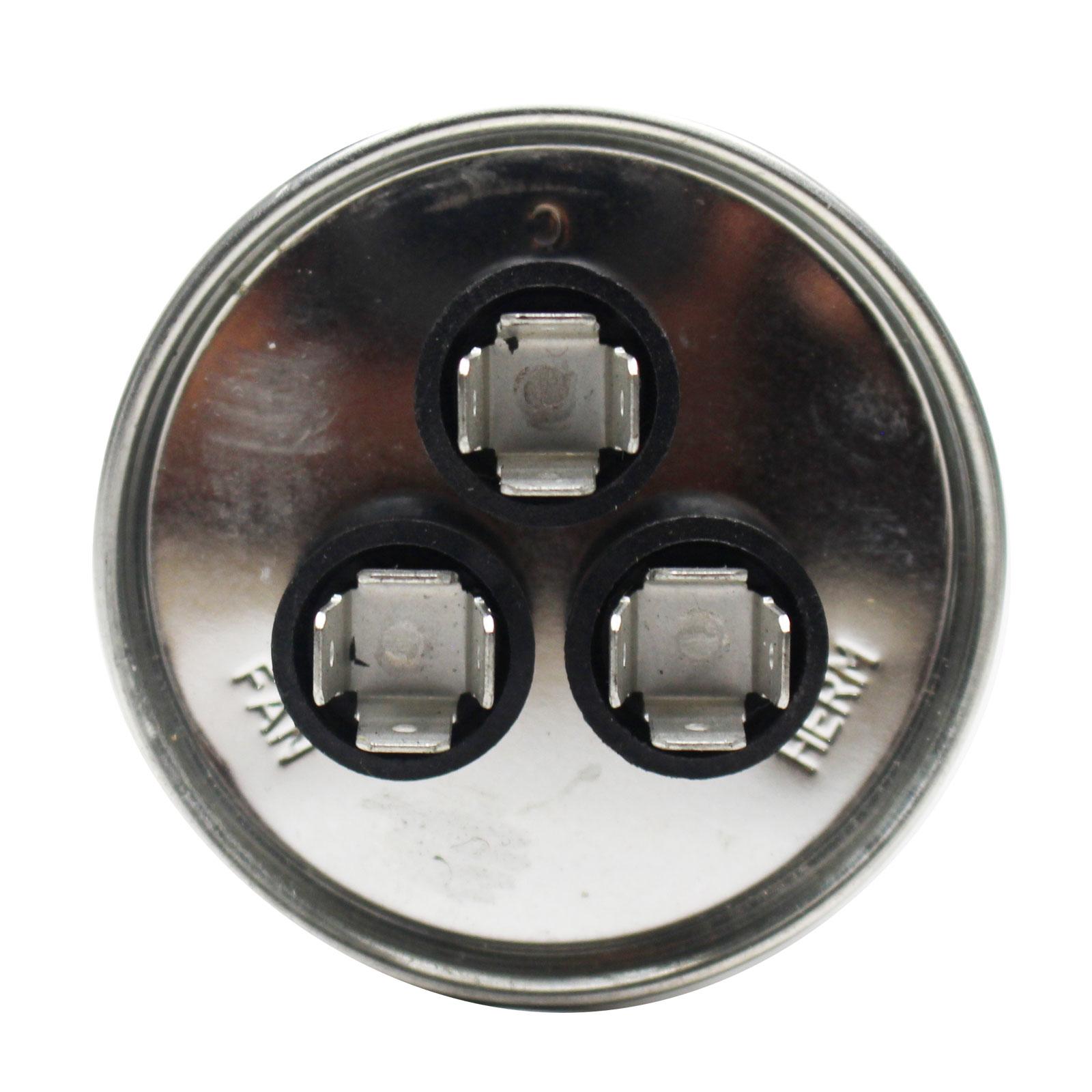 80//7.5 MFD 370 Volt Dual Round Run Capacitor for GE 27l522 ICP 1149999