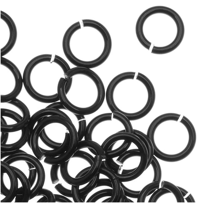 Artistic Wire, Chain Maille Jump Rings, 20 Ga / ID 3.18mm / 200pc, Black Color