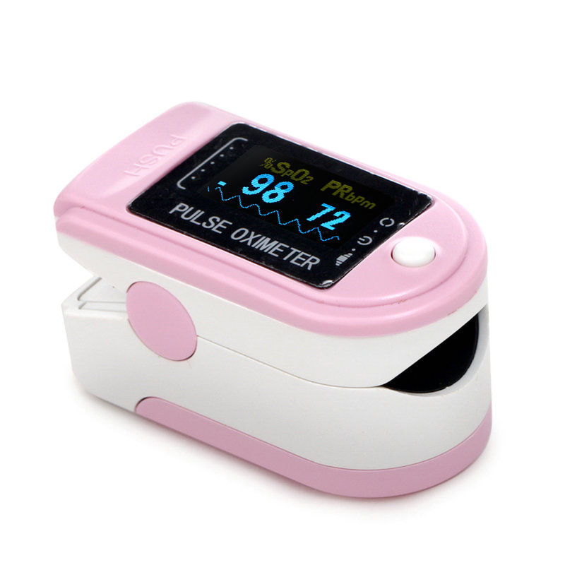 CMS50DA Fingertip Pulse Oximeter Blood Oxygen Monitor SPO2 PR OLED Screen With Carry Bag lanyard