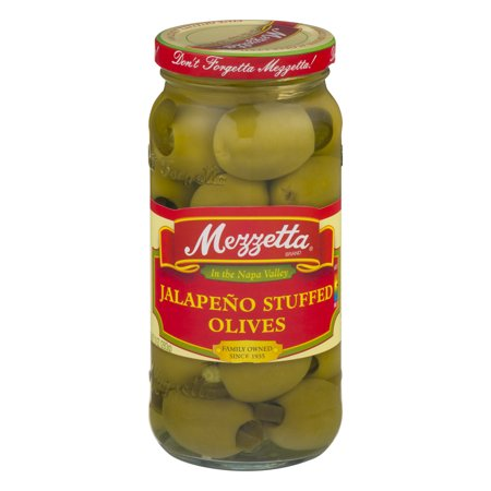 - (2 Pack) Mezzetta Jalapeno Stuffed Olives, 10.0 OZ