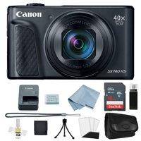 Canon Powershot SX740 HS 4K Video Digital Camera Black + Basic Bundle