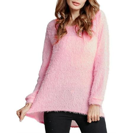 f57d6b5d2f1285 Celmia - Women Clearance Fluffy Sweater Casual Jumper Tops Blouse -  Walmart.com