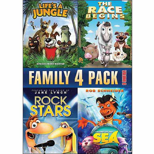 Family Quad Feature: Volume 8 - Life's A Jungle / Rock Stars / The Race Begins / Legend Of The Sea (Full Frame)