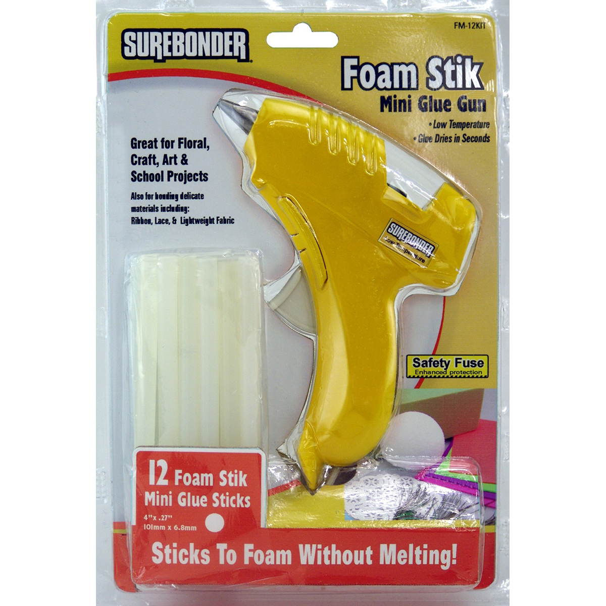 Foam Stik Mini Glue Gun Kit-Yellow