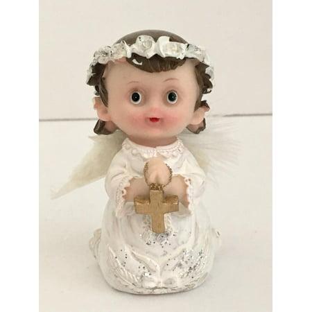 Baby Angle Figurine Favor Favors Christening Cake Top Gift Keepsake W Box - Cake Favor Boxes