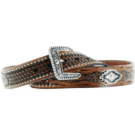 Ariat Western Belt Mens Leather Sands Antique Brown A10009381