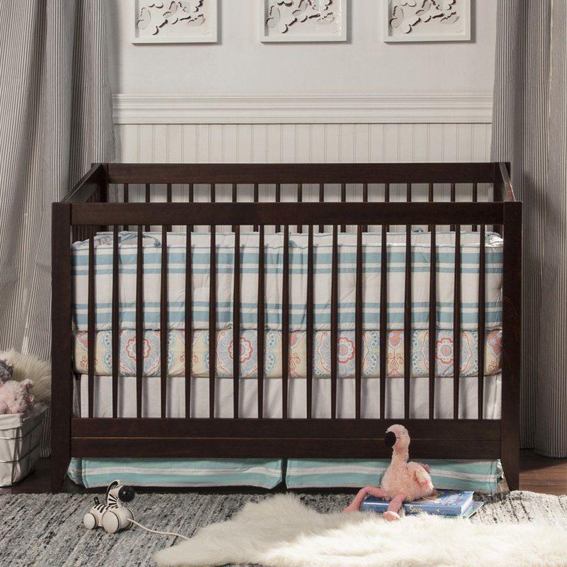 davinci jayden 4in1 convertible crib with toddler bed conversion kit espresso walmartcom