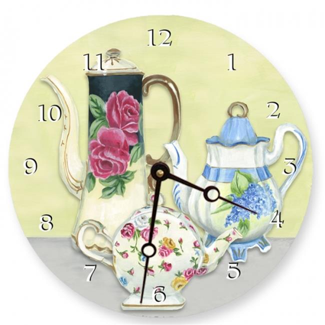 Lexington Studios 23087R China Teapots 10 inch Round clock