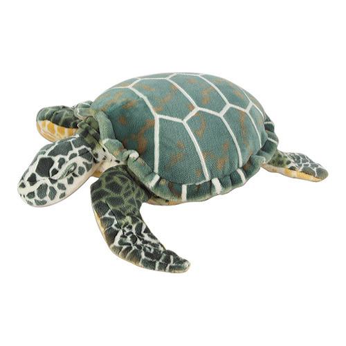 Melissa & Doug Sea Turtle Giant Stuffed Animal (Wildlife, Soft Polyester Fabric, Beautiful Sea Turtle Markings, 24″ H × 22″ W × 7.9″ L)