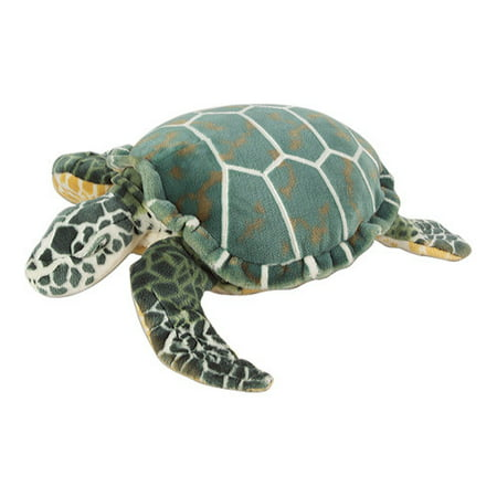 Melissa & Doug Sea Turtle Giant Stuffed Animal (Wildlife, Soft Polyester Fabric, Beautiful Sea Turtle Markings, 24 H  22 W  7.9 L)