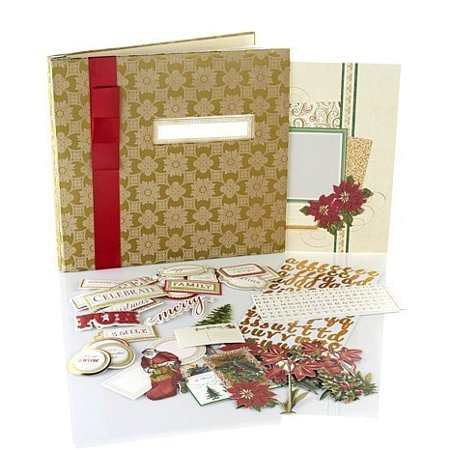 Anna Griffin Scrapbook Pages (Anna Griffin Crafts Christmas Holiday Scrapbook Photo Album Kit )