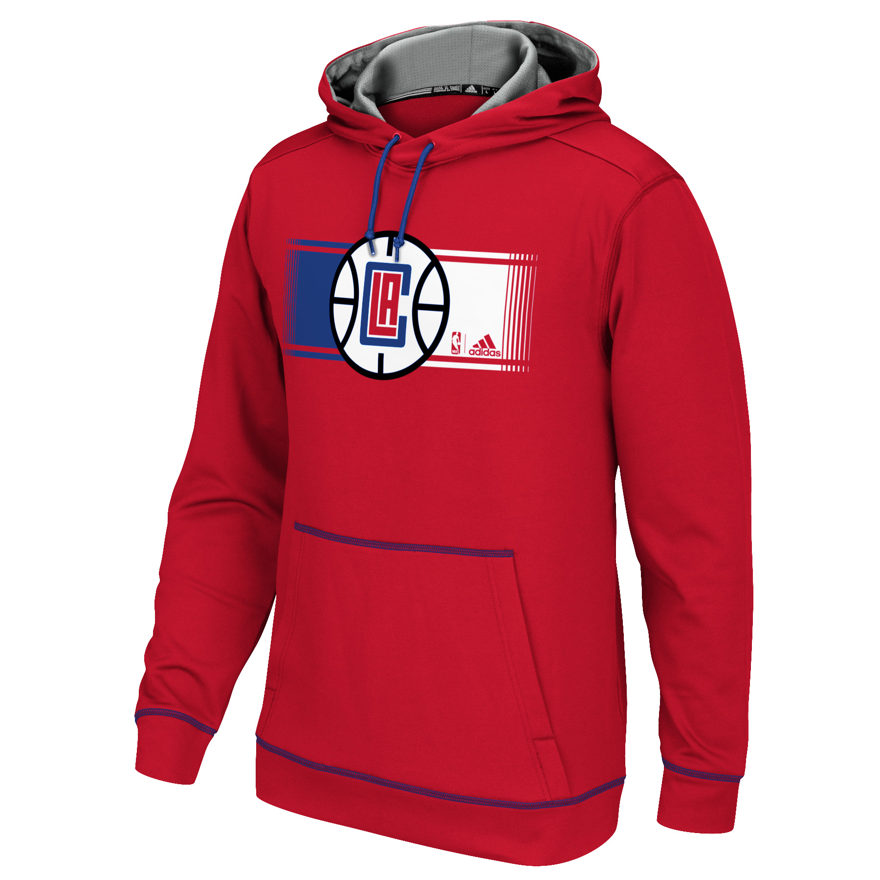 Adidas Los Angeles Clippers Tip Off Pullover Hoodie (Red)
