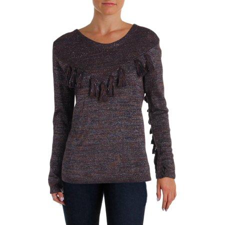 Scotch & Soda Womens Tassel Metallic Pullover Sweater (Scotch And Soda Sweater)