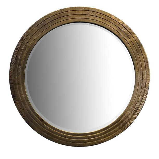 Round Layered Wooden Frame Decor Wall, Carved Wood Frame Round Mirror