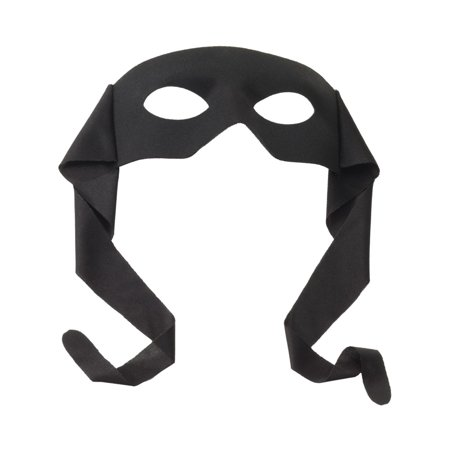 Adults Costume Accessory Black Eye Mask Zorro Zoro Lone Ranger for $<!---->