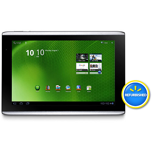 "Acer Refurbished Iconia Tab A Series A500-10S16W with WiFi 10.1"" Touchscreen Tablet PC Featuring Android 3.0 (Honeycomb) Operating System, Silver"