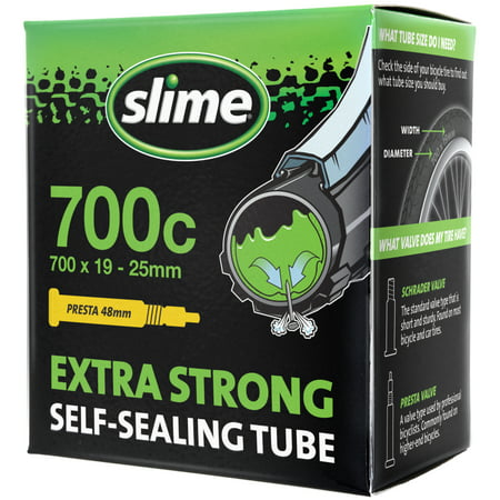 Slime Self-Sealing Smart Replacement Bike/Bicycle Inner Tube, Presta 700x19-25mm - 30085 Ultralight Presta Tube