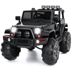 Best Choice Products 12V Ride On Car Truck w| Remote Control, 3 Speeds, Spring Suspension, LED Light - Black