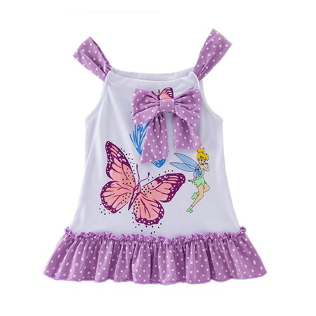 StylesILove Baby Toddler Girl Sleeveless Bowknot Butterfly Print Cotton Dress (100/18-24 - Girls Butterfly Dress