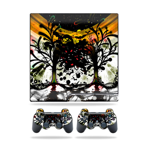 Skin Decal for Sony Playstation 3 PS3 Slim + 2 controllers sticker Tree of Life