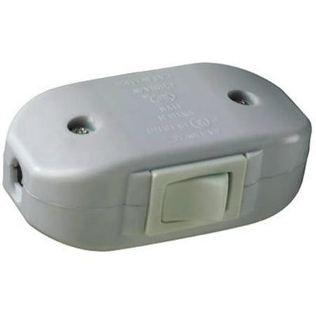 Pass & Seymour 5406WCC10 6A White Heavy-Duty Feed Thru Cord Switch