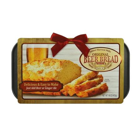 (2 Pack) Amber Harvest Mills Original Beer Bread Baking Mix 16 oz. Pack