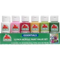 Apple Barrel 5214E Acrylic Craft Paint, Matte Finish, Essentials, 2 fl oz, Set of 13