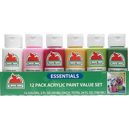Apple Barrel Essentials 12 Color Paint -