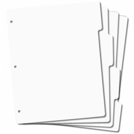 Tabbed Rubber Stamp Storage Panels, 4pk, 8.5
