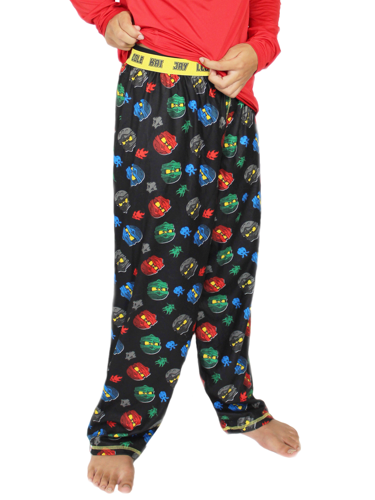 Lego Ninjago 2 PC Pajama Sleep Pants Boy Size XS 4//5