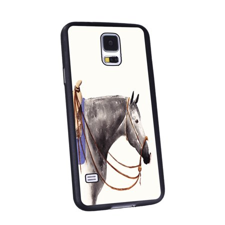 KuzmarK Samsung Galaxy S5 Black Cover Case - Dappled Gray Quarter Horse Art by Denise Every