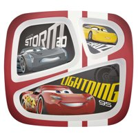 Cars 3 Lightning McQueen & Cruz Ramirez Kids Divided Plates