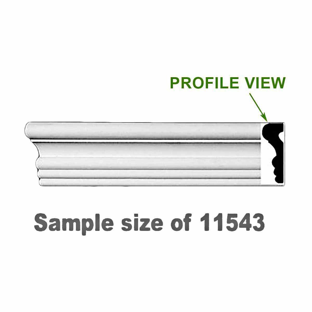 "Cornice White Urethane Sample of 11543 24"" Long | Renovator's Supply"