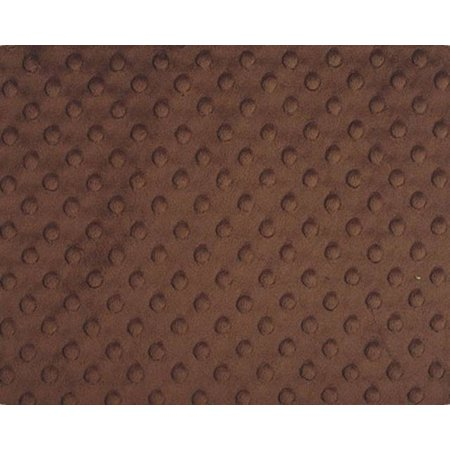 Brown Minky Dot (Brown Minky Dimple Dot Fabric - Style# DD12525 - Free Shipping!)