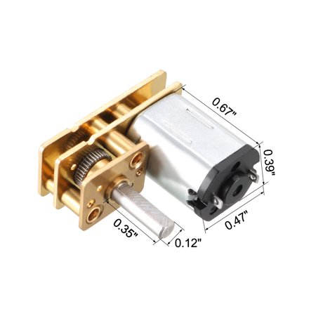 DC 3V 50RPM Micro Speed Reduction Gear Box Motor for RC Car DIY Engine Toy - image 3 of 5