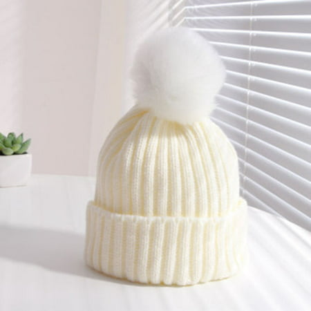 George Yellow Hat (Costyle Toddler Kids Girl Boy Baby Winter Warm Crochet Knit Hat Children Ski Beanie)