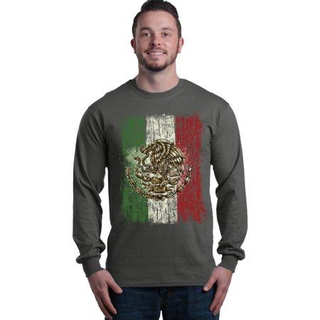 Shop4Ever Men's Flag of Mexico Mexican Cinco de Mayo Long Sleeve Shirt (Cinco De Mayo Shots)