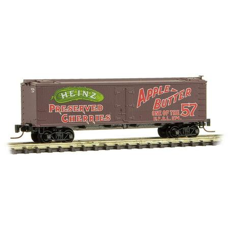 Micro-Trains MTL Z-Scale Heinz Series Car #1 - 36ft Wood Reefer - Cherries/Apple (Reefer Van)