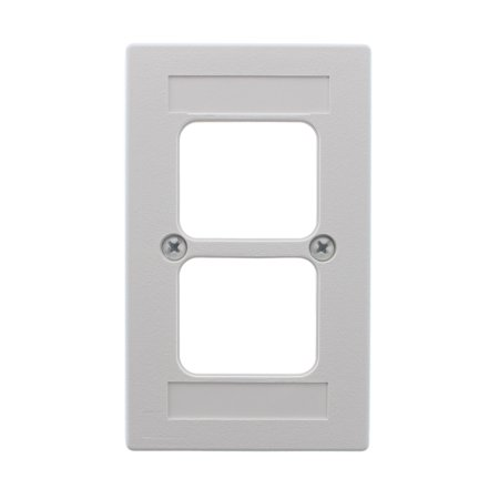 Video Combo Faceplate - AMP Tyco TE 555650-5 Wire Ducting Faceplate Kit, 1-Gang, White