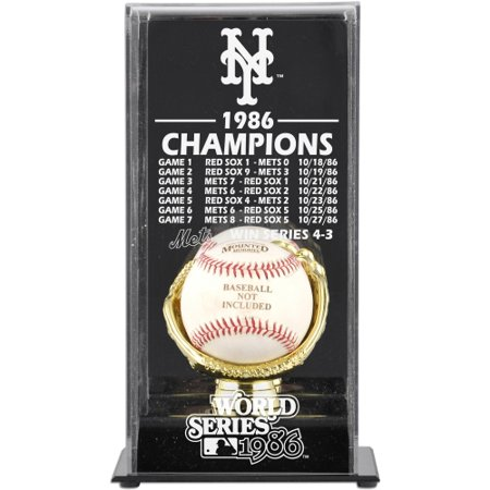New York Mets Fanatics Authentic 1986 World Series Champions Baseball Display Case - No Size