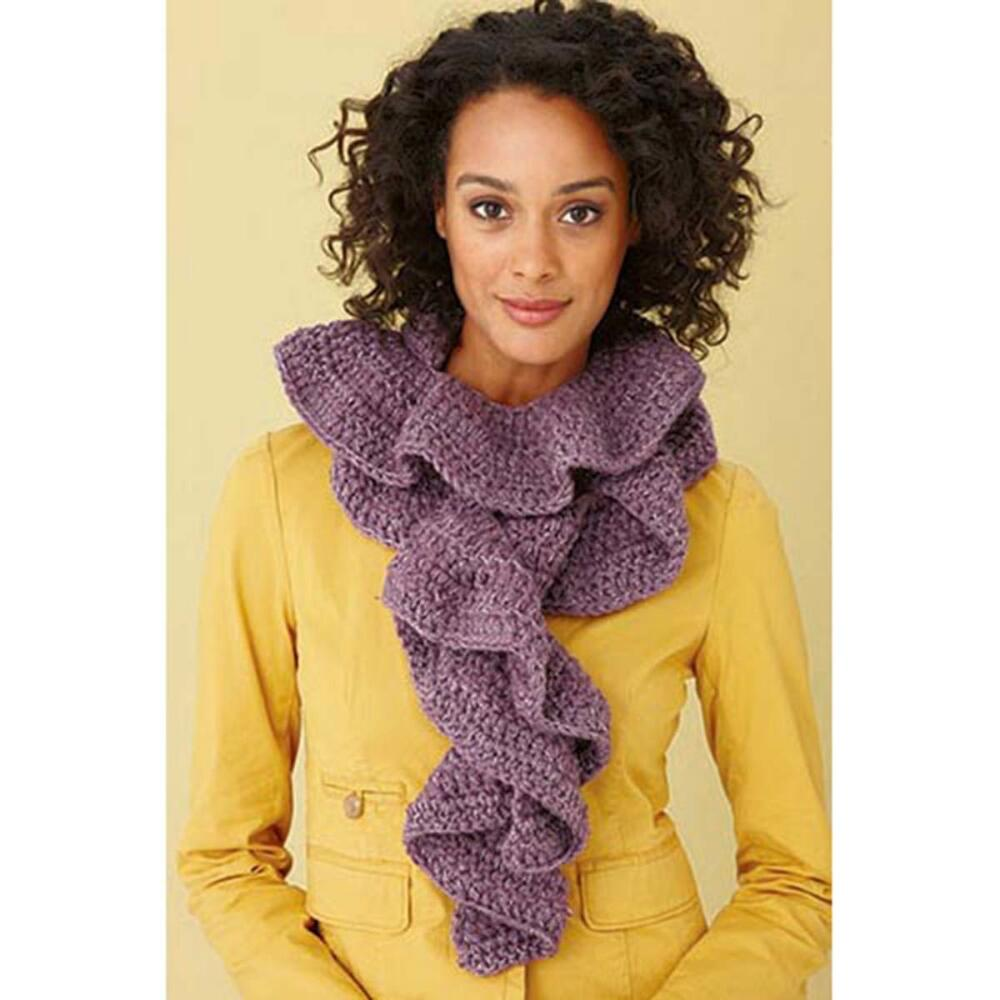 Lion Brand Glitter Ruffle Scarf Crochet Yarn Kit