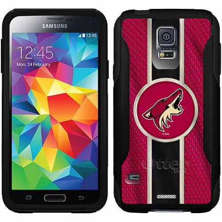 Phoenix Coyotes Jersey Stripe Design on OtterBox Commuter Series Case for Samsung Galaxy S5 by