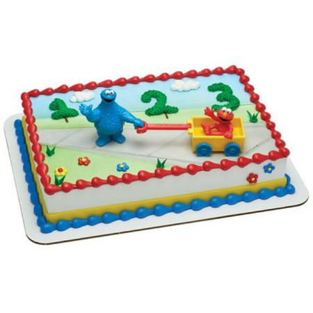 Sesame Street Cookie Monster And Elmo Cake Topper