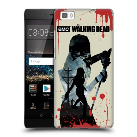 OFFICIAL AMC THE WALKING DEAD SILHOUETTES HARD BACK CASE FOR HUAWEI PHONES 2