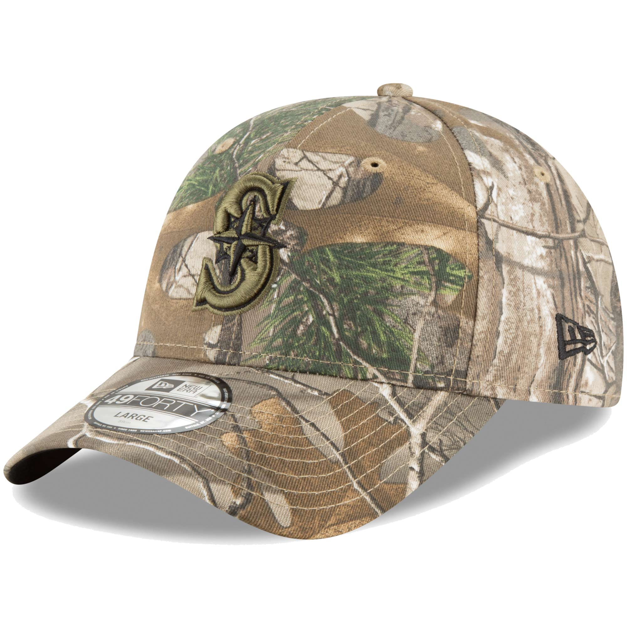 best website c3be1 ca41c ... order seattle mariners new era realtree 49forty fitted hat camo 347f8  31c57