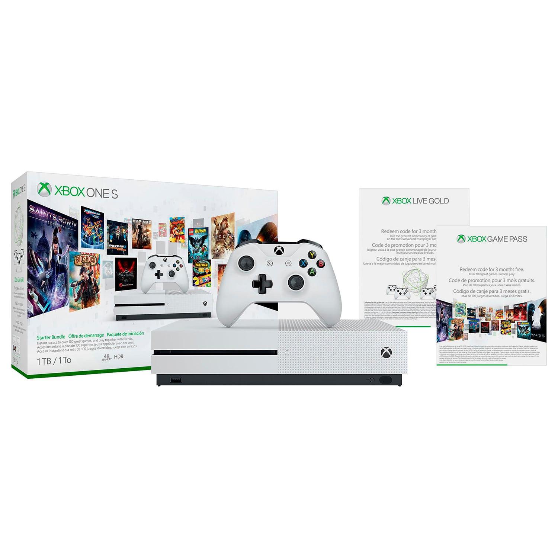 Microsoft Xbox One S 1TB - Starter Bundle: Robot White - Walmart com